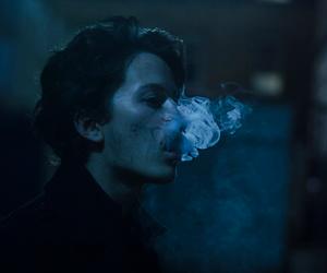 grunge, smoke, and blue image