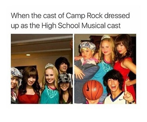 camp rock, high school musical, and funny image