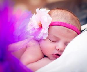baby, headband, and pink image