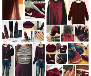 maroon, clothes, and fall image