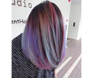 dyed hair, hair dye, and hair color image
