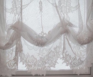 pale, white, and curtains image
