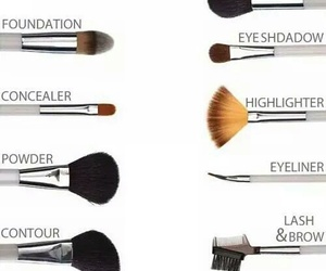 Brushes, makeup, and make up image