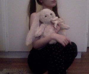 girl, lolita, and teddybear image
