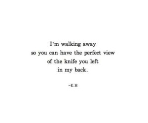 quotes, knife, and sad image