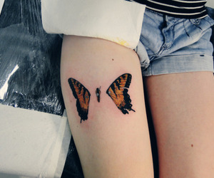 tattoo, paramore, and butterfly image