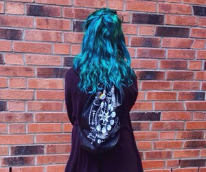 blue hair and dyed hair image