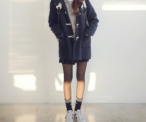 coat, ulzzang, and fashion image