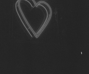 heart, black and white, and grunge image