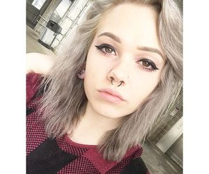 alternative, silver, and dyed hair image