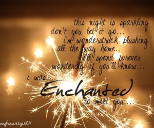 enchanted, Taylor Swift, and Lyrics image
