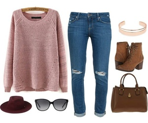 boots, outfit, and pink image