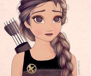 katniss, hunger games, and the hunger games image