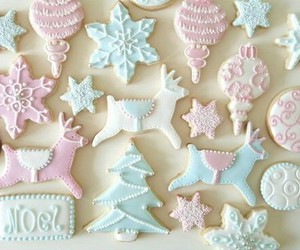 pastel, christmas, and cookie image