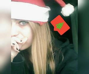 blue eyes, instashot, and christmas image