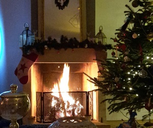 christmas, cocooning, and fire image
