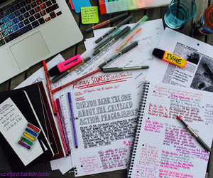 colors, school, and notebooks image