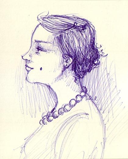 ballpen, draw, and girl image