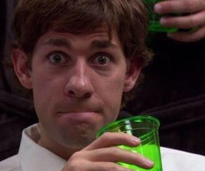 jim halpert, reaction picture, and the office image