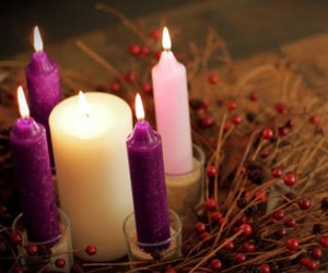 candles, christmas, and decoration image