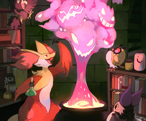pokemon, delphox, and gengar image