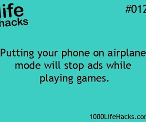life hacks, phone, and game image