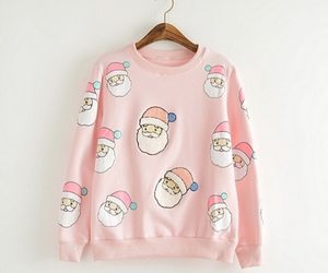 christmas, pink, and sweater image