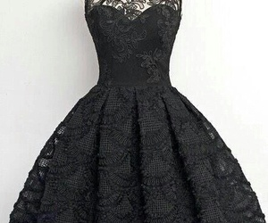 dress, black, and lace image