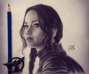 art, katniss, and drawing image