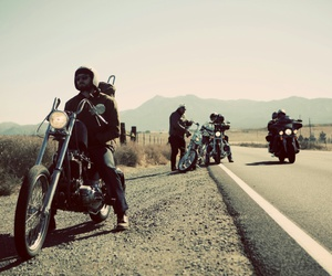 biker, motorcycle, and photography image
