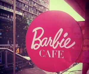 barbie, pink, and cafe image