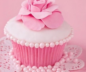cupcake, pink, and sweets image