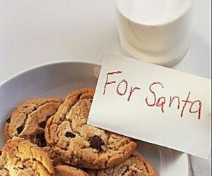 milk, christmas, and santa image