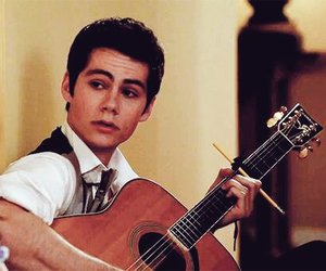 dylan o'brien, teen wolf, and guitar image