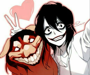 creepypasta, jeff the killer, and smile dog image