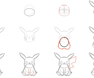 art, drawing, and how to draw pikachu image