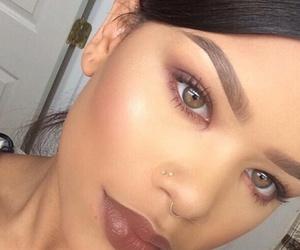 eyebrows, eyes, and Piercings image