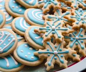 Cookies, food, and blue image