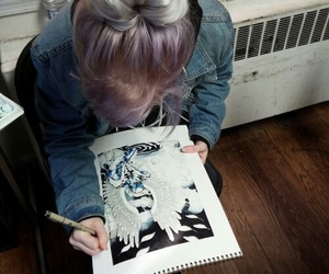grunge, hair, and art image