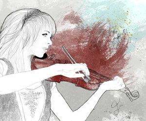fanart, lindsey stirling, and violin image