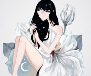tofuvi, anime girl, and flowers image