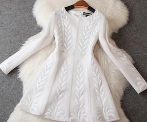 dress, white, and fashion image