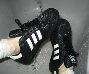 adidas, black, and pale image