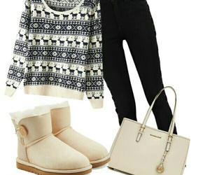christmas, outfit, and Polyvore image