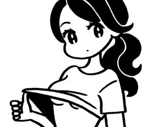 anime, girl, and stripe image