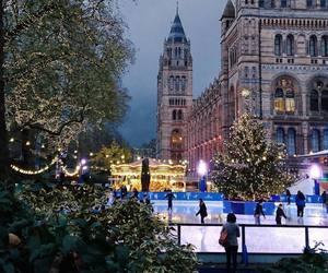 city, ice skating, and london image