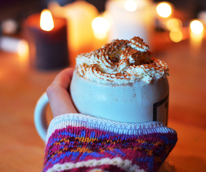 winter, hot ​chocolate, and christmas image