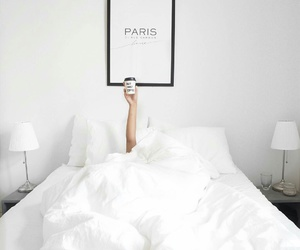 bed, coffee, and white image