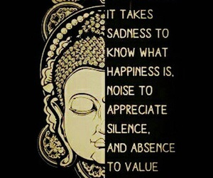 buddhism, happiness, and absence image