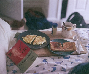 vintage, breakfast, and book image